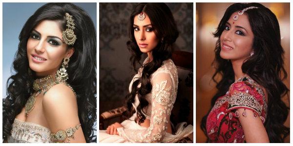Curly Downdo | Beautiful Indian Wedding Hairstyles | The Ultimate Indian Wedding Guide