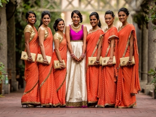 Matching  Bridesmaids Dresses | The Essential Guide to Indian Wedding Outfits