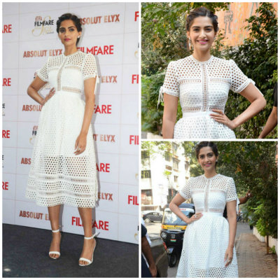 Sonam in Self Portrait | Best Dressed Bollywood Celebrities in December