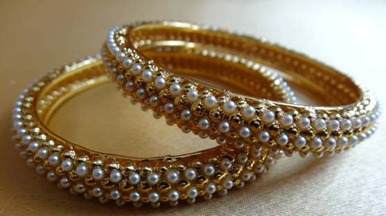 Pearl Bangles | Indian Wedding Accessories