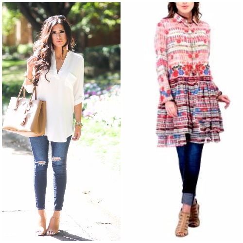 Tunics with jeans