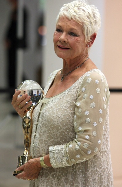 Dame Judie Dench in a Chikan Embroidered Jacket
