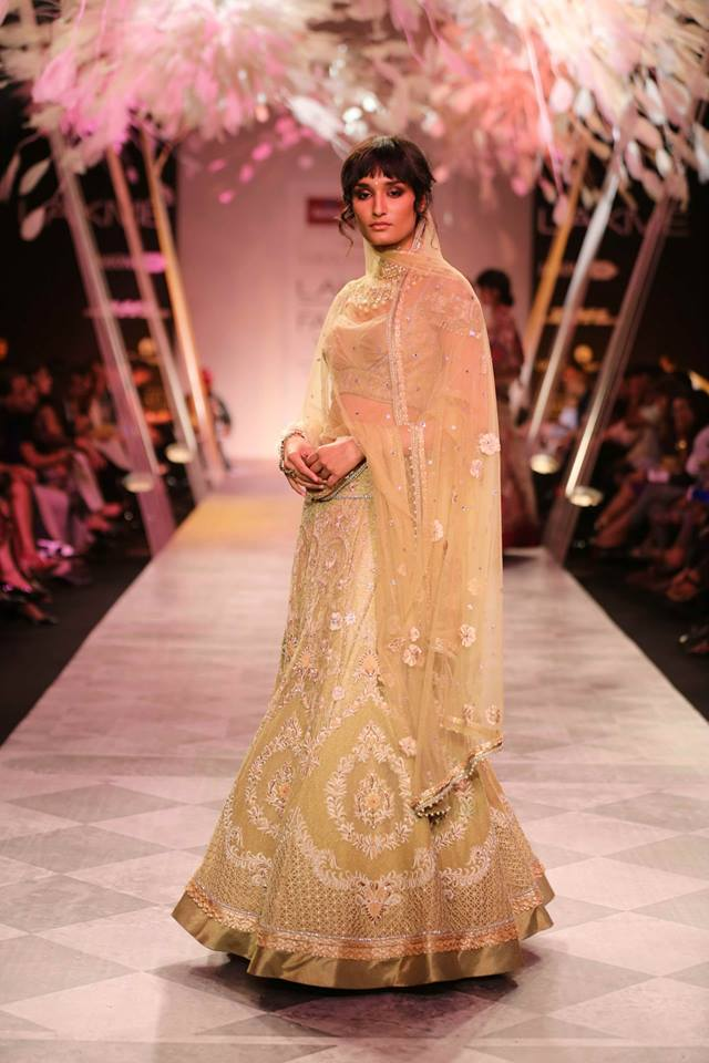Model in a Tarun Tahiliani Show Wearing Chikan