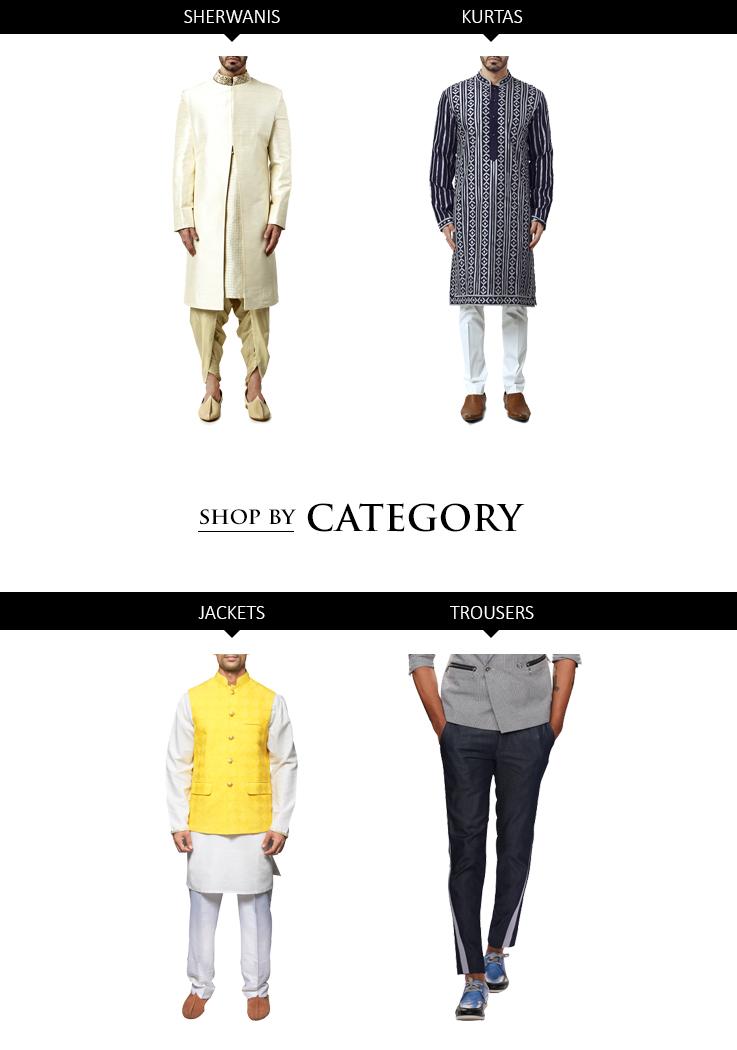 Indian Designer Menswear styles - Sherwanis and Kurtas