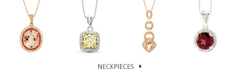 Beautiful and luxurious Diamond and Precious Stone Neckpieces