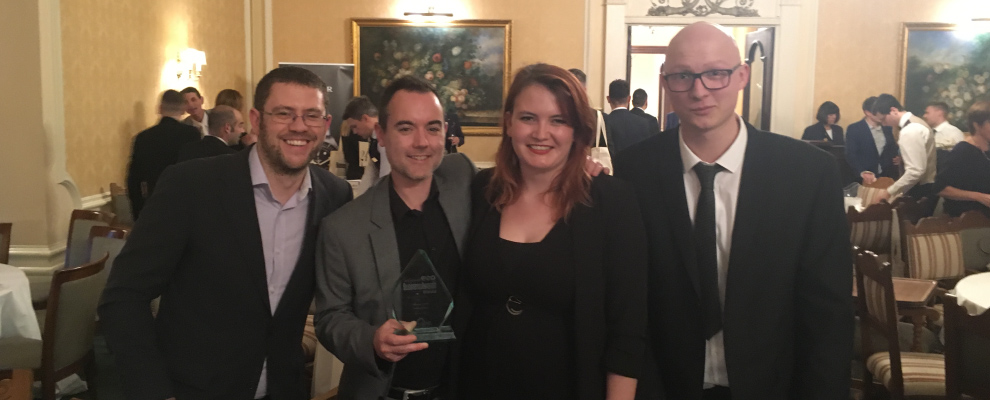 The Award Winning Team, Joel, Kev, Harriet and Lewis