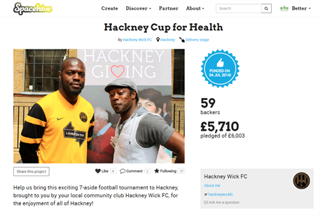 The Hackney Cup for Health - our first project!