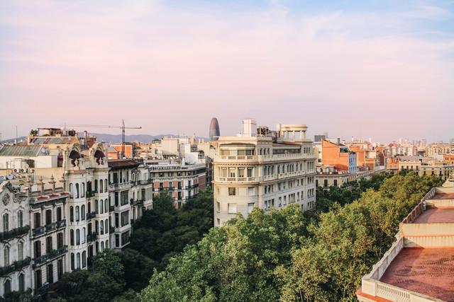 Terraza 300m² con vistas Barcelona centro