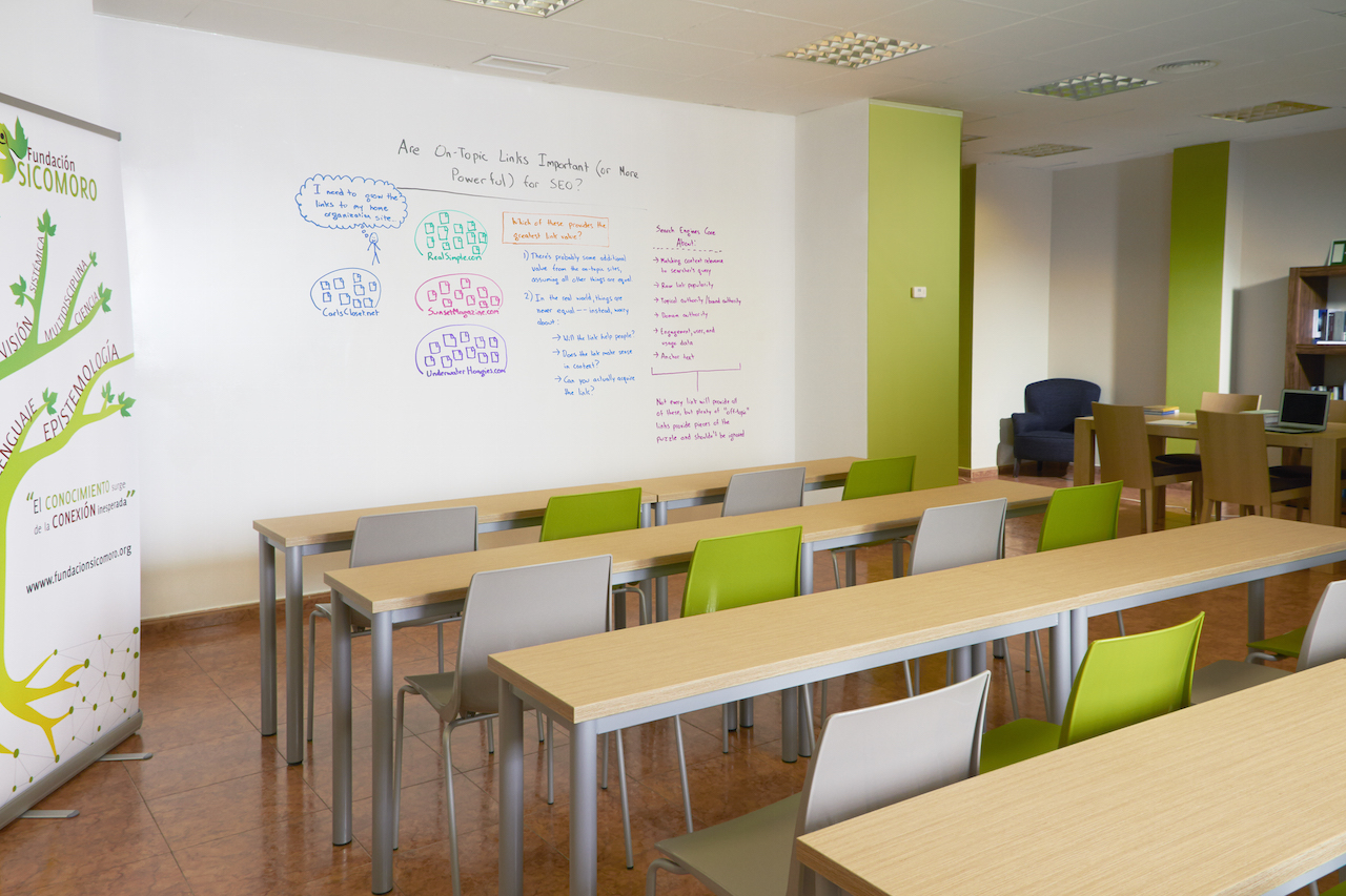 sala de reuniones para actividades de coaching, reuniones y demás.