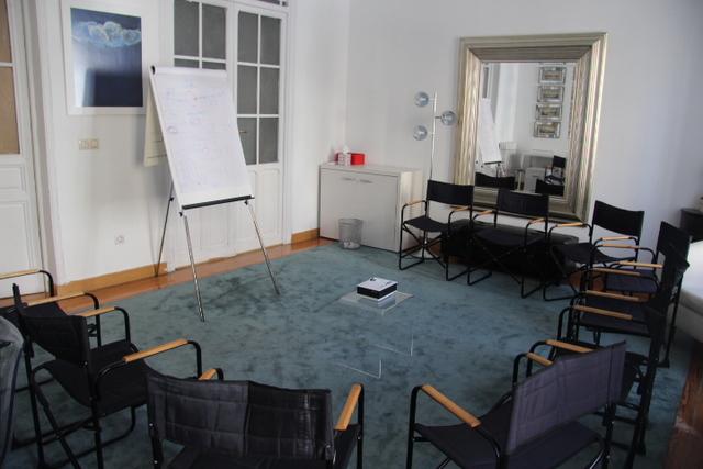 Sala multidisciplinar conferencias, talleres, terapias.