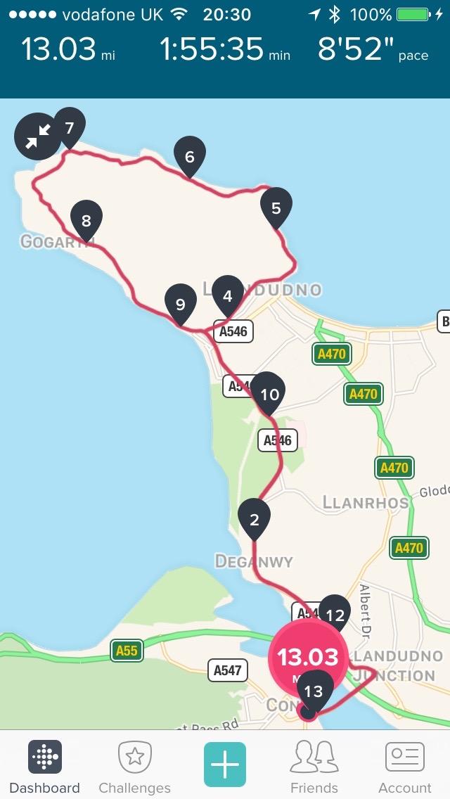 Conwy half map