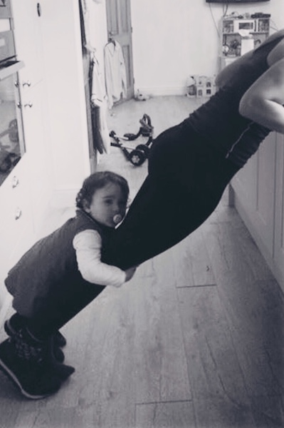 mum and child work out