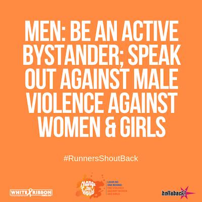 men shout back