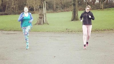 aimee and sarah running