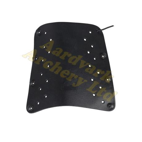 White Feather Armguard - Lightning Leather Black Image 1