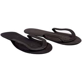 Disposable Flip Flops Black (12 Pairs) thumbnail