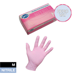 Pink Nitrile Gloves Medium thumbnail
