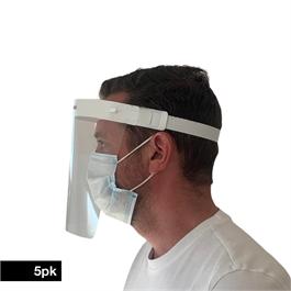 Protective Face Shield Visor 5 Pack thumbnail
