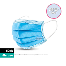 Disposable Protective 3 Ply Face Mask 50 pack thumbnail