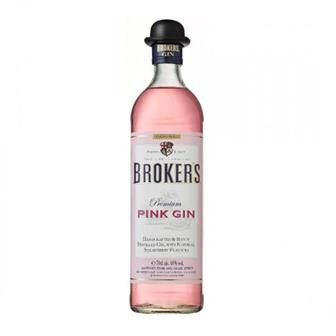 Brokers Premium Pink Gin 40% 70cl thumbnail