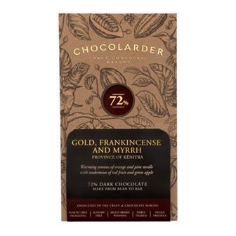 Gold Frankincense & Myrrh Chocolate Chocolarder 70g thumbnail