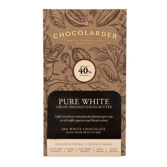 Chocolarder Pure White 40% Chocolate 70g thumbnail