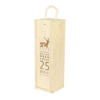 'Do Not Open' Christmas Lid Wooden Gift Box thumbnail
