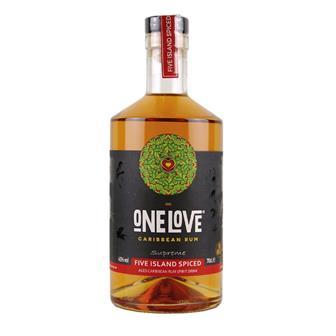 One Love Five Island Spiced Rum 70cl thumbnail