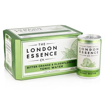 London Essence Bitter Orange & Elderflower Tonic Water Cans 6 x 150ml thumbnail