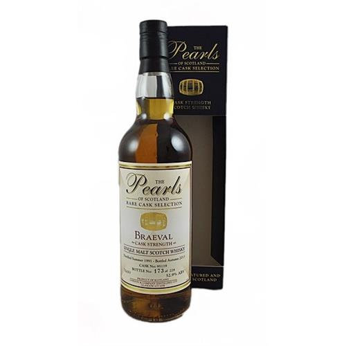 Braeval 1991 Cask Strength The Pearls of Scotland 52.9% 70cl Image 1