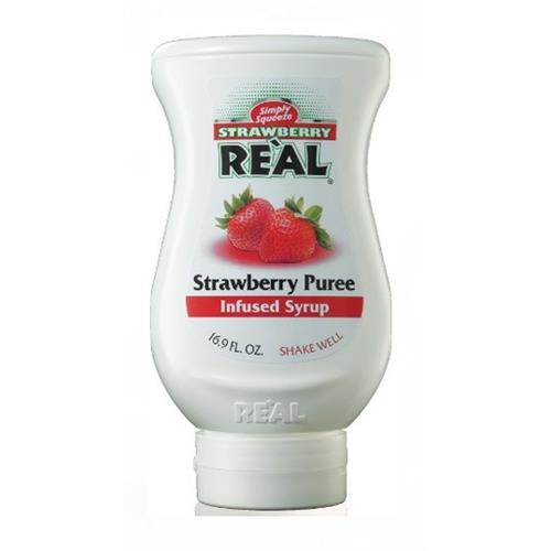 Real Strawberry Puree infused Syrup 500ml Image 1