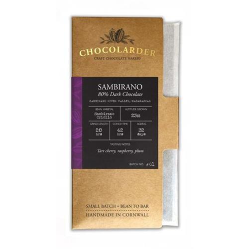 Chocolarder Sambirano 80% Dark Chocolate Image 1