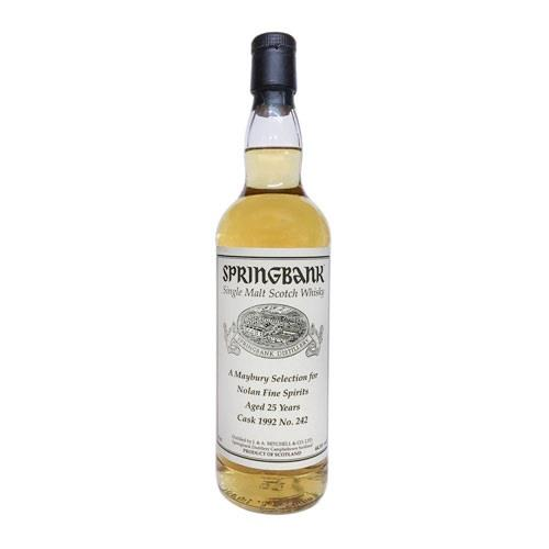 Springbank 25 Year Old 1992 Cask No 242  Image 1
