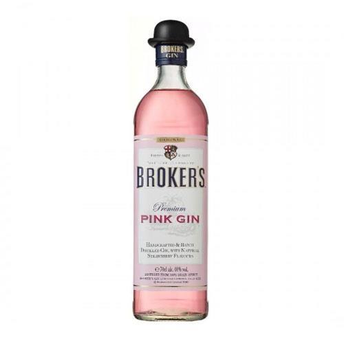 Brokers Premium Pink Gin 40% 70cl Image 1