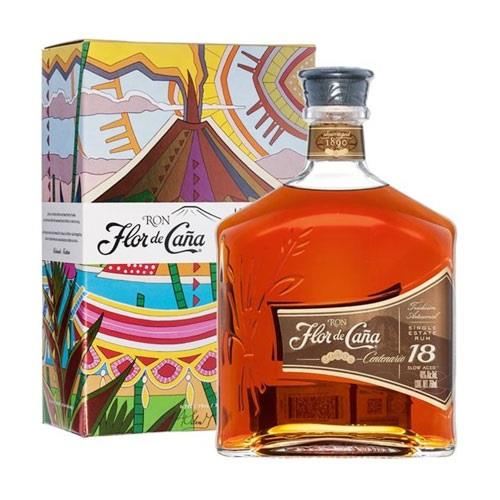 Flor de Cana Rum 18 Year Old Rum 70cl Image 1