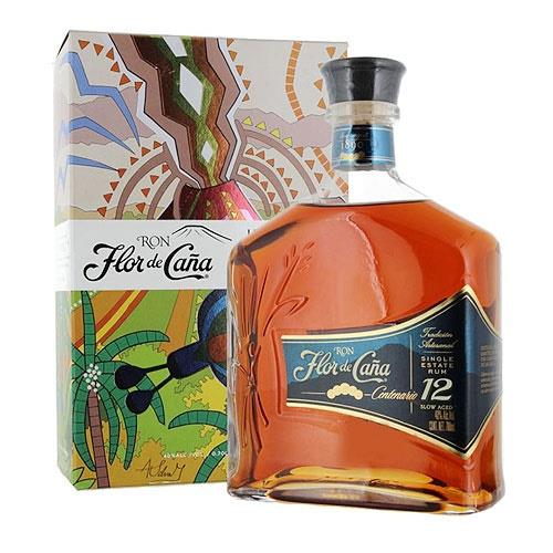 Flor de Cana Rum 12 Year Old 40% 70cl Image 1
