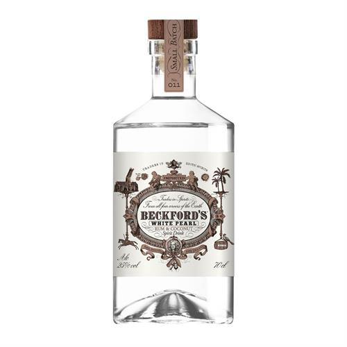Beckford's White Pearl Coconut Rum Spirit 25% 70cl Image 1