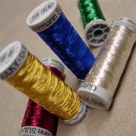 Gutermann Sulky Dekor Metallic Machine Embroidery Thread Image 1
