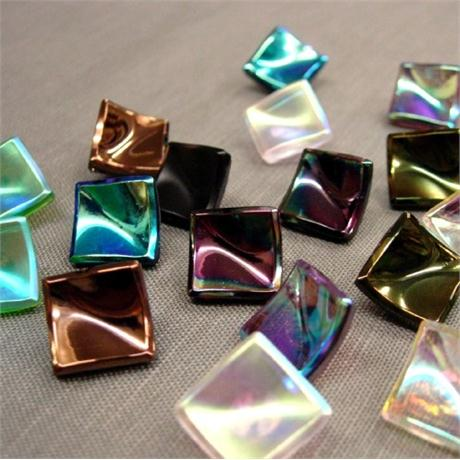 Square Glass Button Size 28 Image 1