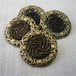 Decorative Metal and Braided Button Thumbnail Image 0