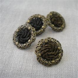 Decorative Metal and Braided Button Thumbnail Image 1