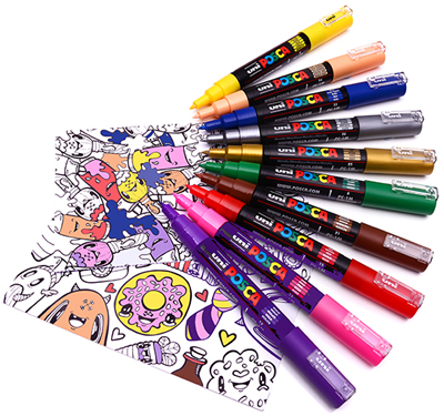 Colouring With Posca Pens