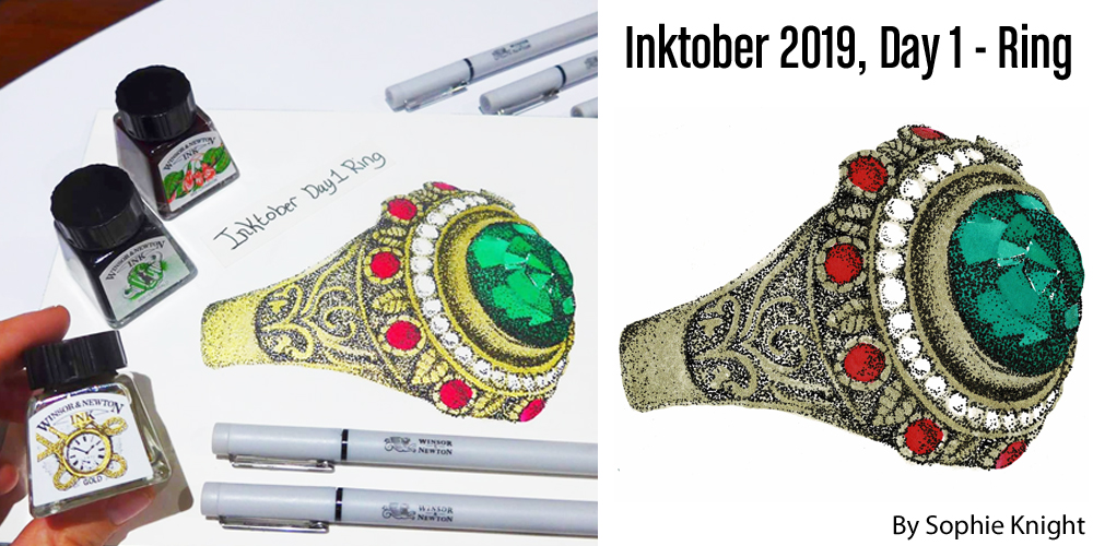 Inktober 2019 Day 1 Ring