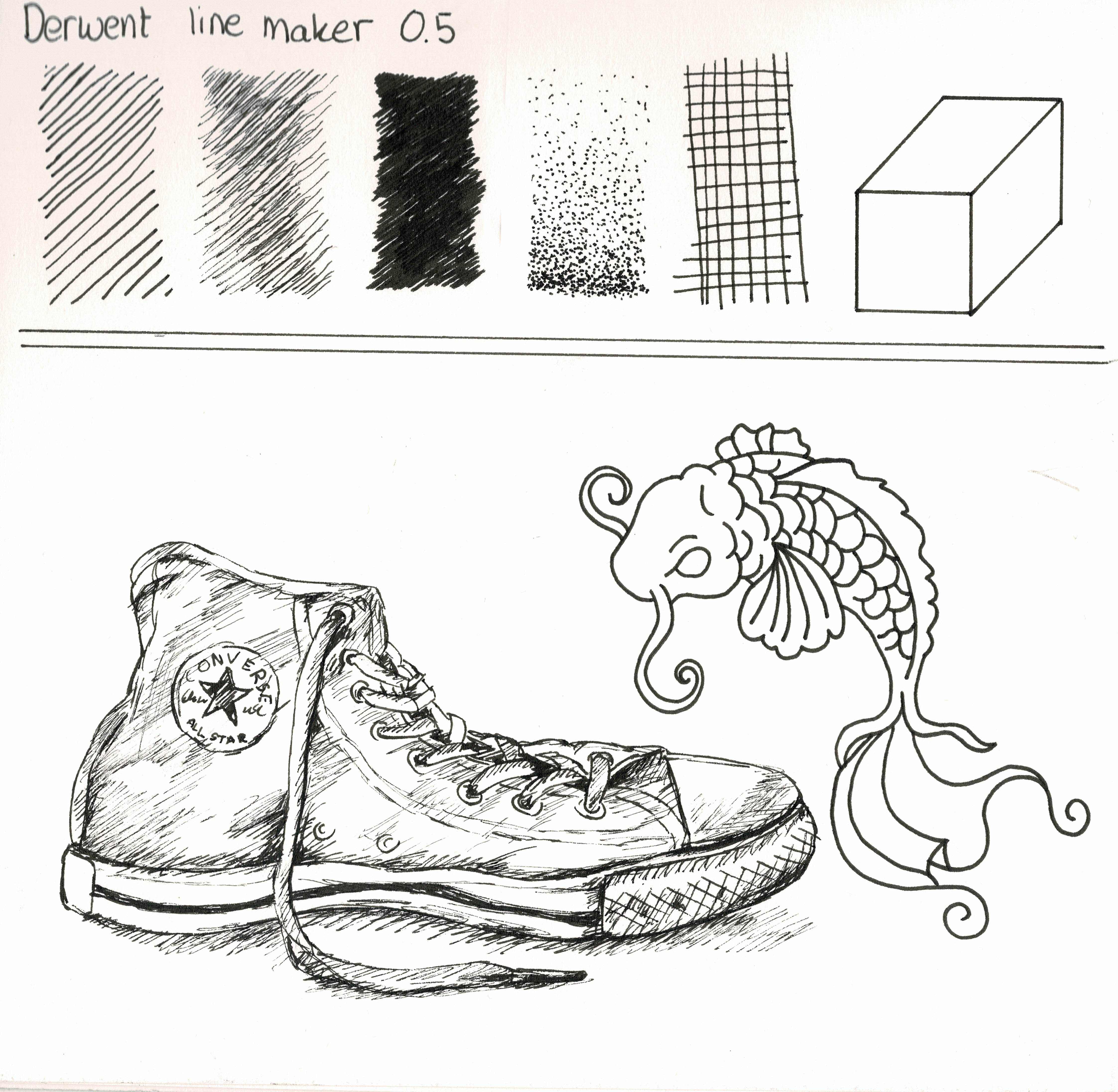 Drawing With Derwent Line Maker Pens