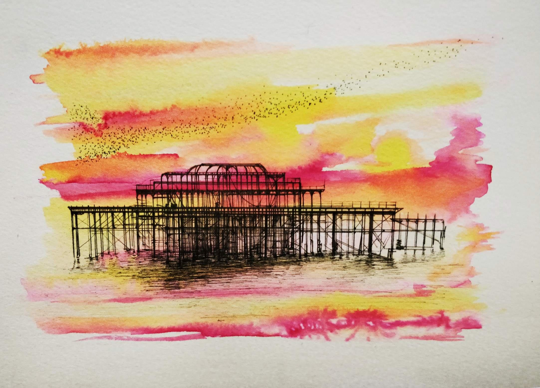 Fineliner And Drawing Inks By Sophie Knight