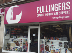 Pullingers Art shop in Epsom Surrey