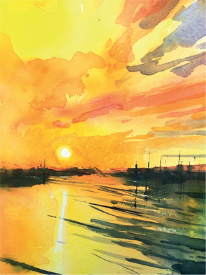 Winsor & Newton Cadmium Free Watercolour Tutorial Step 10