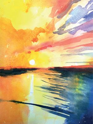 Winsor & Newton Cadmium Free Watercolour Tutorial Step 8