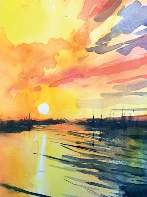 Winsor & Newton Cadmium Free Watercolour Tutorial Step 9