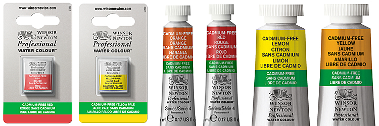 Winsor & Newton Cadmium Free Watercolours Size Availability